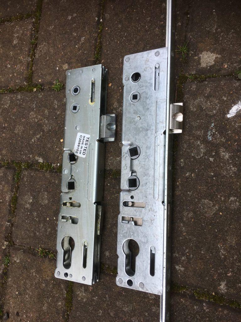 Faulty lock mechanism on a UPVC door - Morgan Locksmiths, Colchester, Essex and Ipswich Suffolk