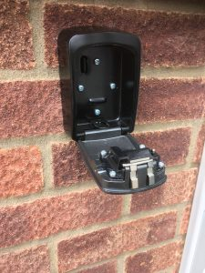 The interior of a Maxus Key safe fitted on a property in Stowmarket - Morgan Locksmiths